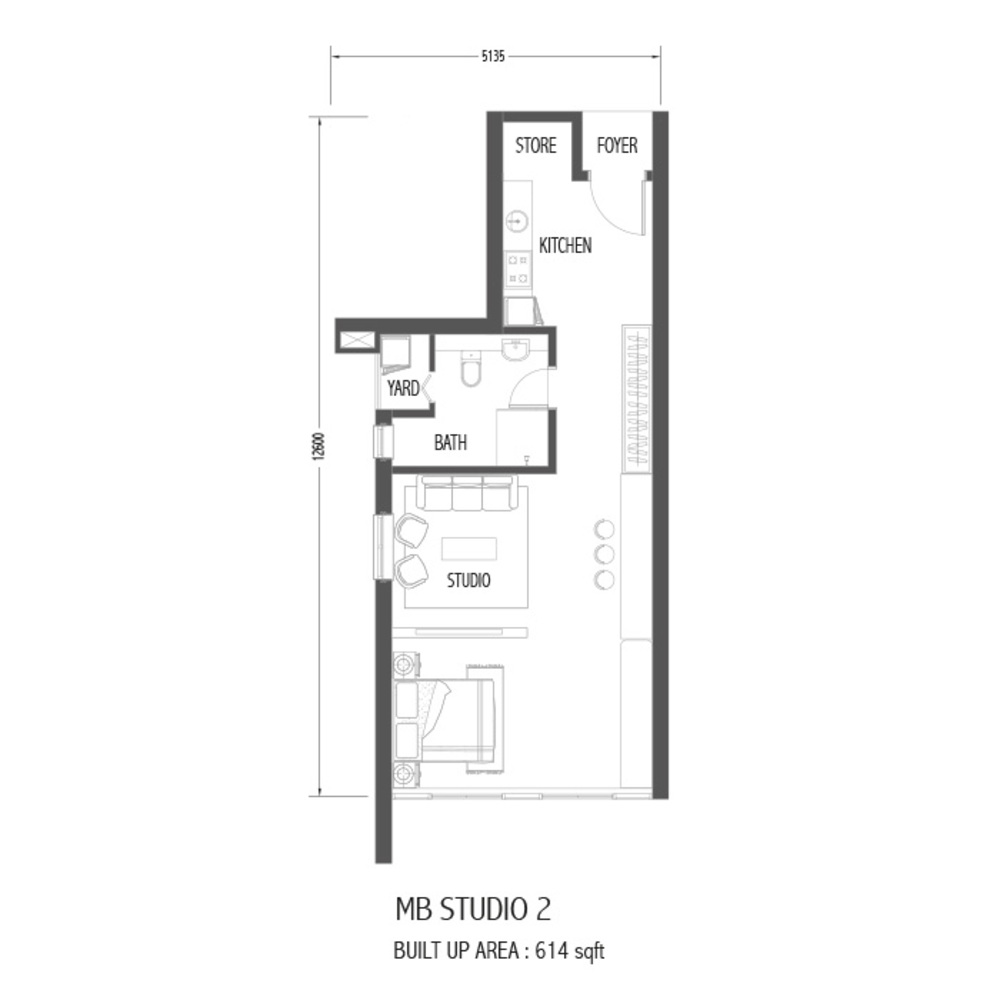 Setia Sky 88 MB Studio 2 Floor Plan