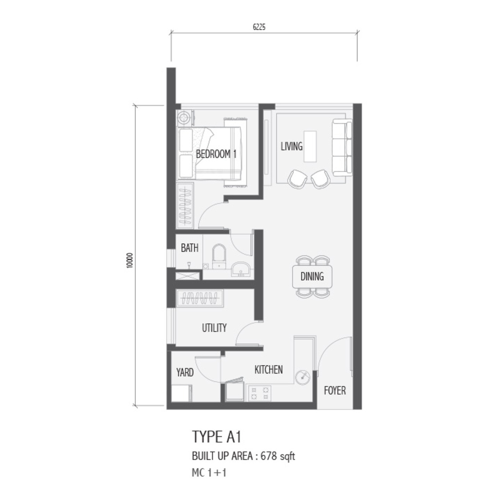 Setia Sky 88 Type A1 - Nube Floor Plan