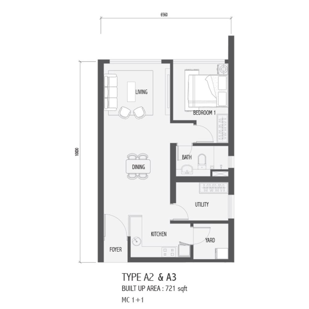 Setia Sky 88 Type A2 & A3 - Nube Floor Plan