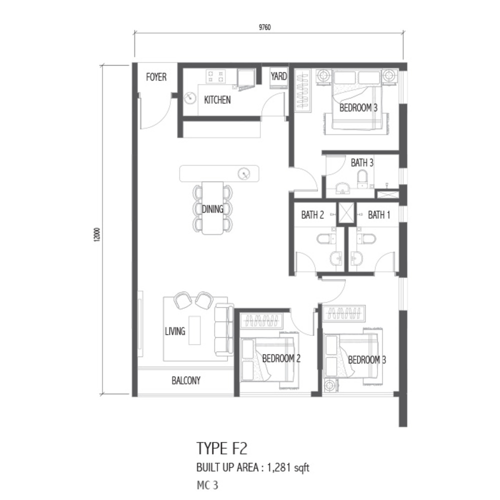Setia Sky 88 Type F2 - Nube Floor Plan