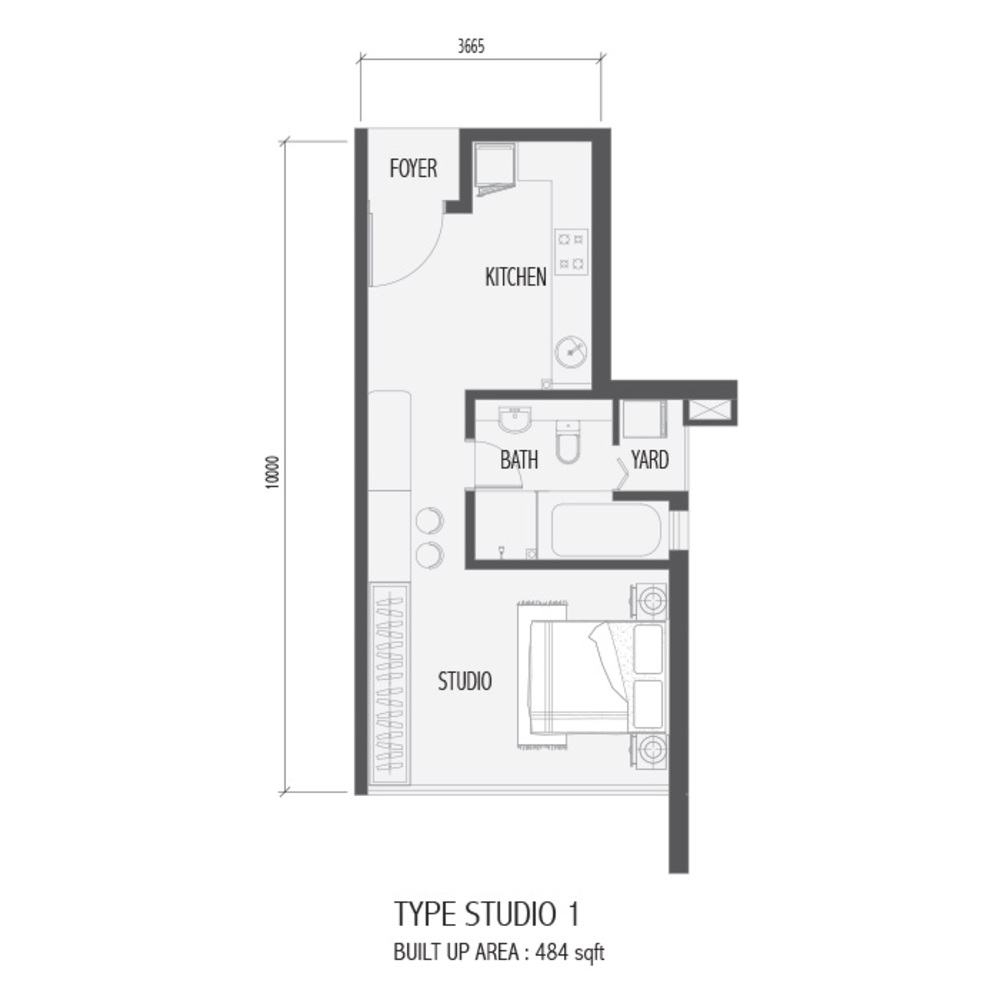 Setia Sky 88 Studio 1 Floor Plan