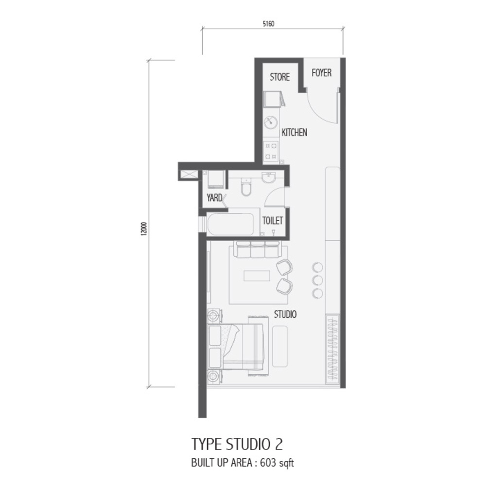 Setia Sky 88 Studio 2 Floor Plan