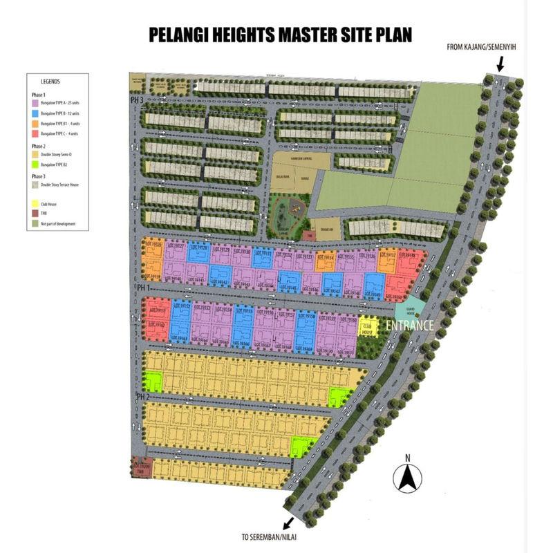 Master Plan of Pelangi Heights