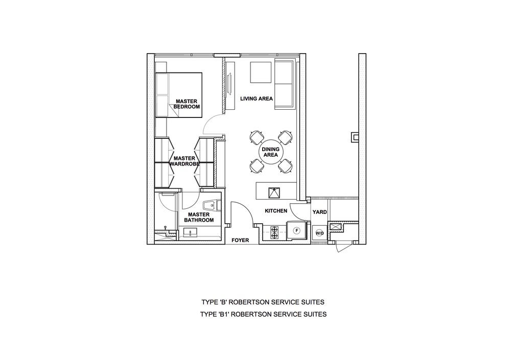 The Robertson Type B & B1 Floor Plan