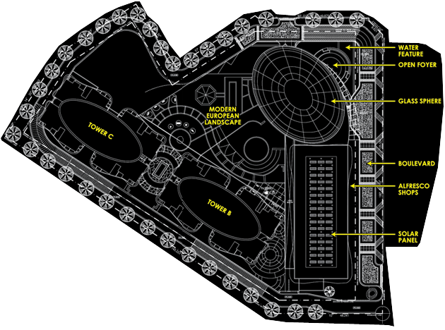 Site Plan of Sphere Damansara