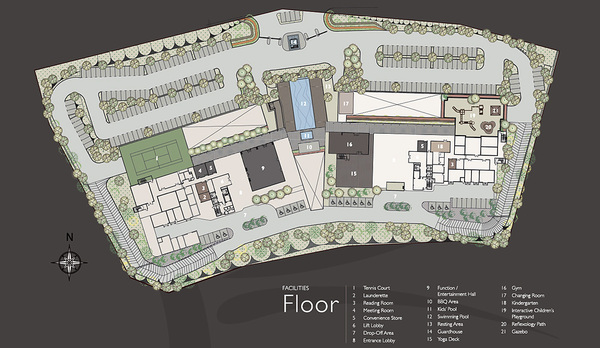 Site Plan of La Thea Residences