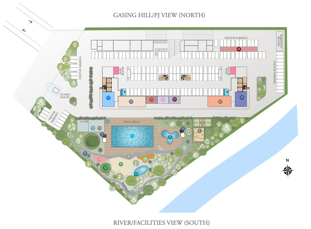 Site Plan of Riverville Residences