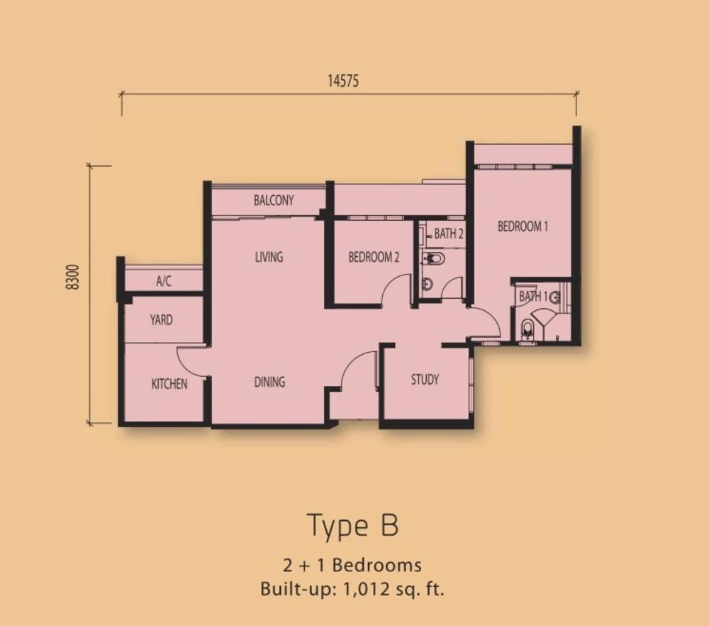 The Clio Residences @ IOI Resort City Type B Floor Plan