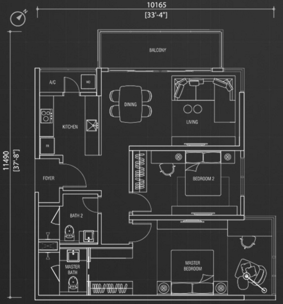 Nadi Bangsar Type E Floor Plan