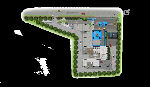 Site Plan of Nadi Bangsar
