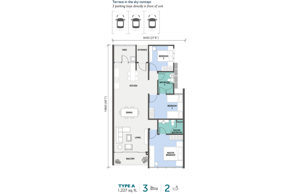 PJ Midtown Type A Floor Plan