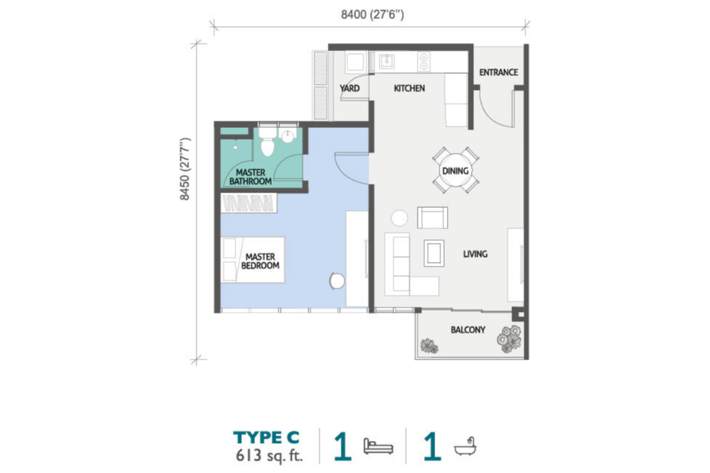 PJ Midtown Type C Floor Plan