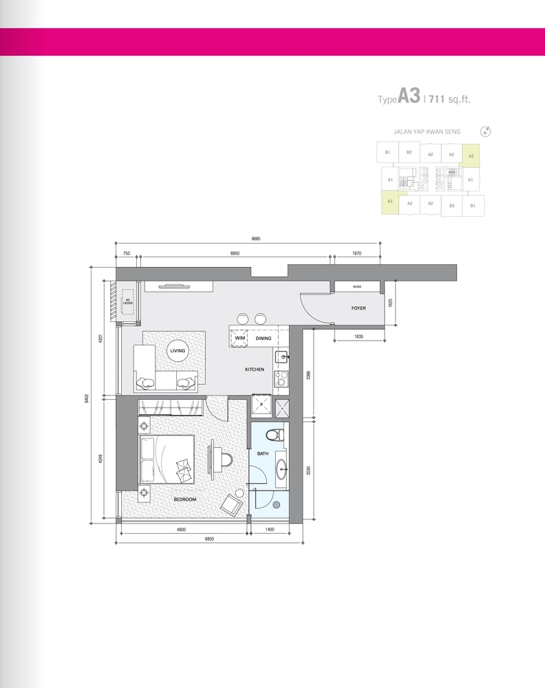 Star Residences Star Residences 1 - Type A3 Floor Plan