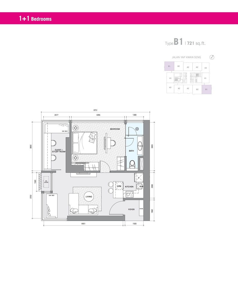 Star Residences Star Residences 1 - Type B1 Floor Plan
