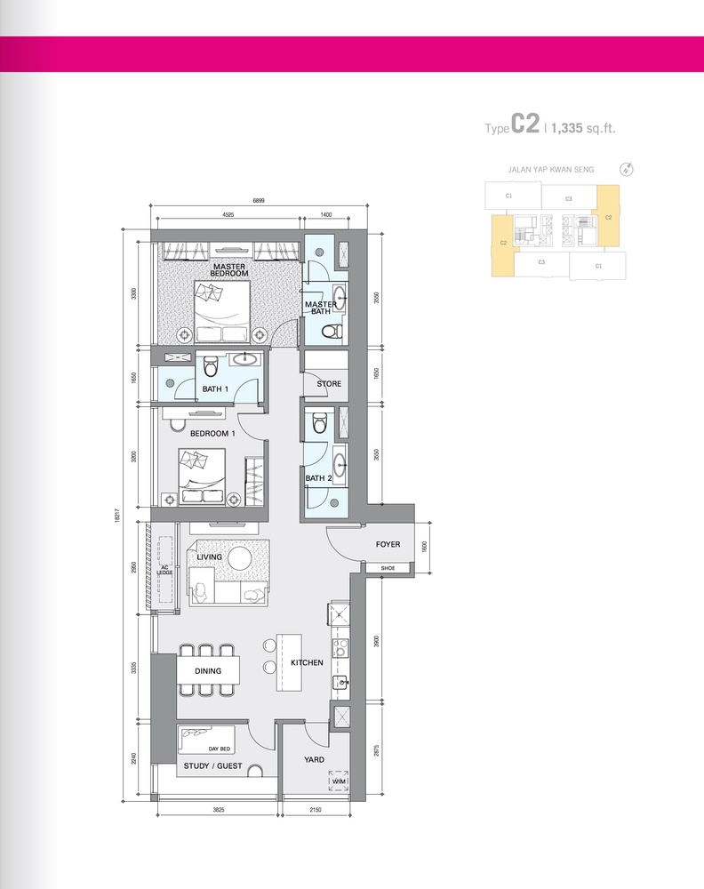 Star Residences Star Residences 1 - Type C2 Floor Plan