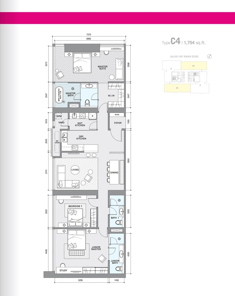 Star Residences Star Residences 1 - Type C4 Floor Plan