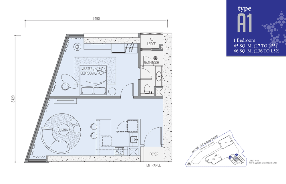 Star Residences Star Residences 2 - Type A1 Floor Plan