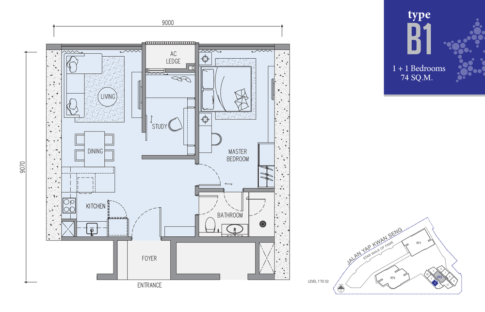 Star Residences Star Residences 2 - Type B1 Floor Plan