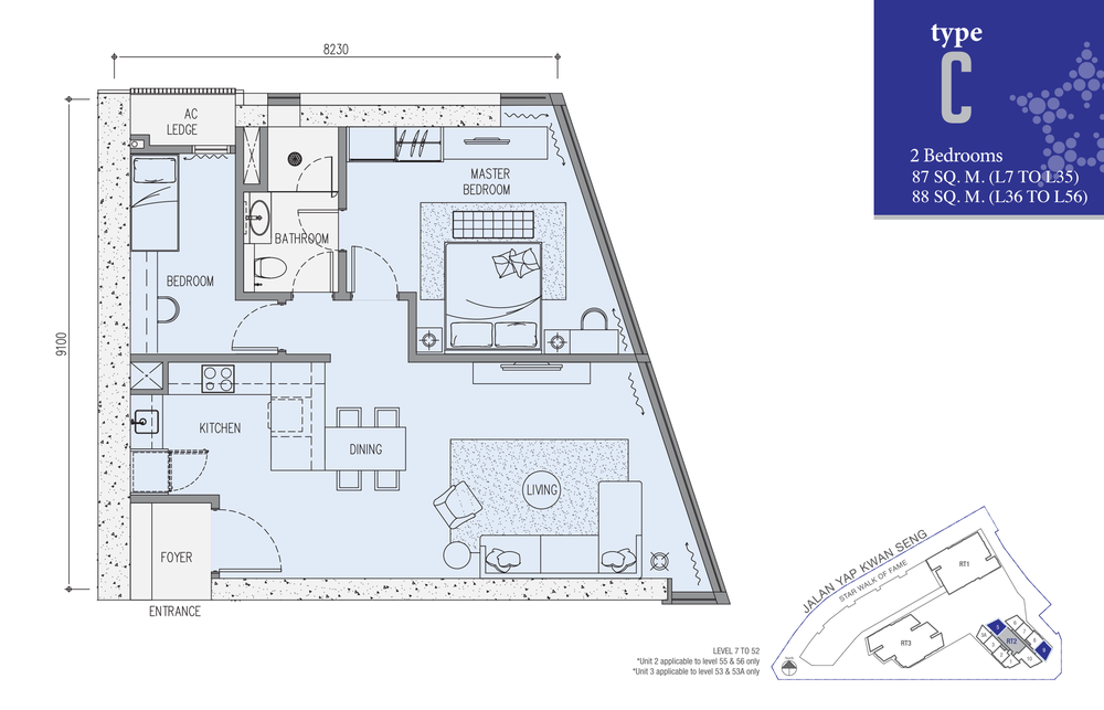 Star Residences Star Residences 2 - Type C Floor Plan