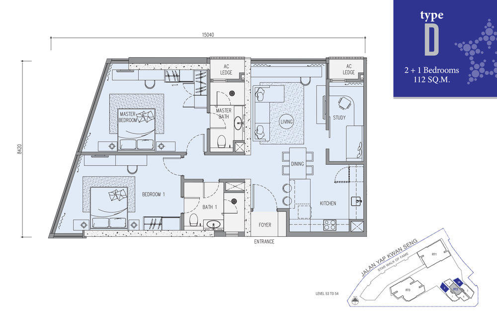 Star Residences Star Residences 2 - Type D Floor Plan