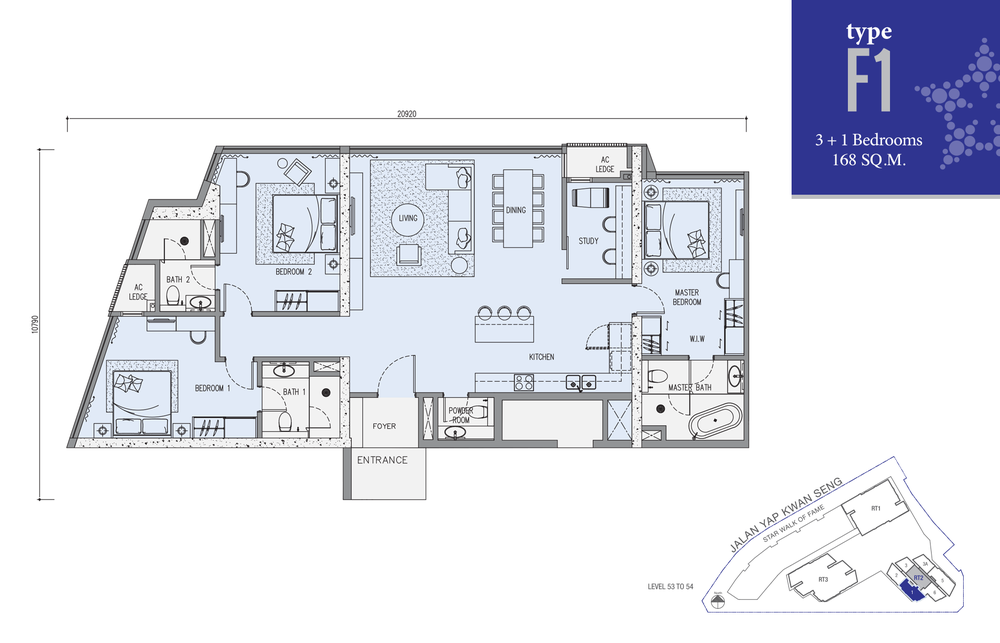 Star Residences Star Residences 2 - Type F1 Floor Plan