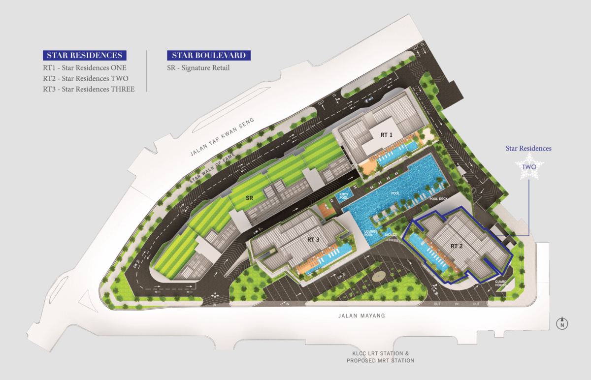 Master Plan of Star Residences