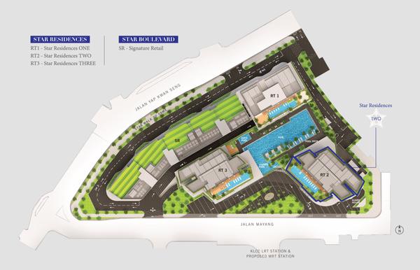 Master Plan of Star Residences