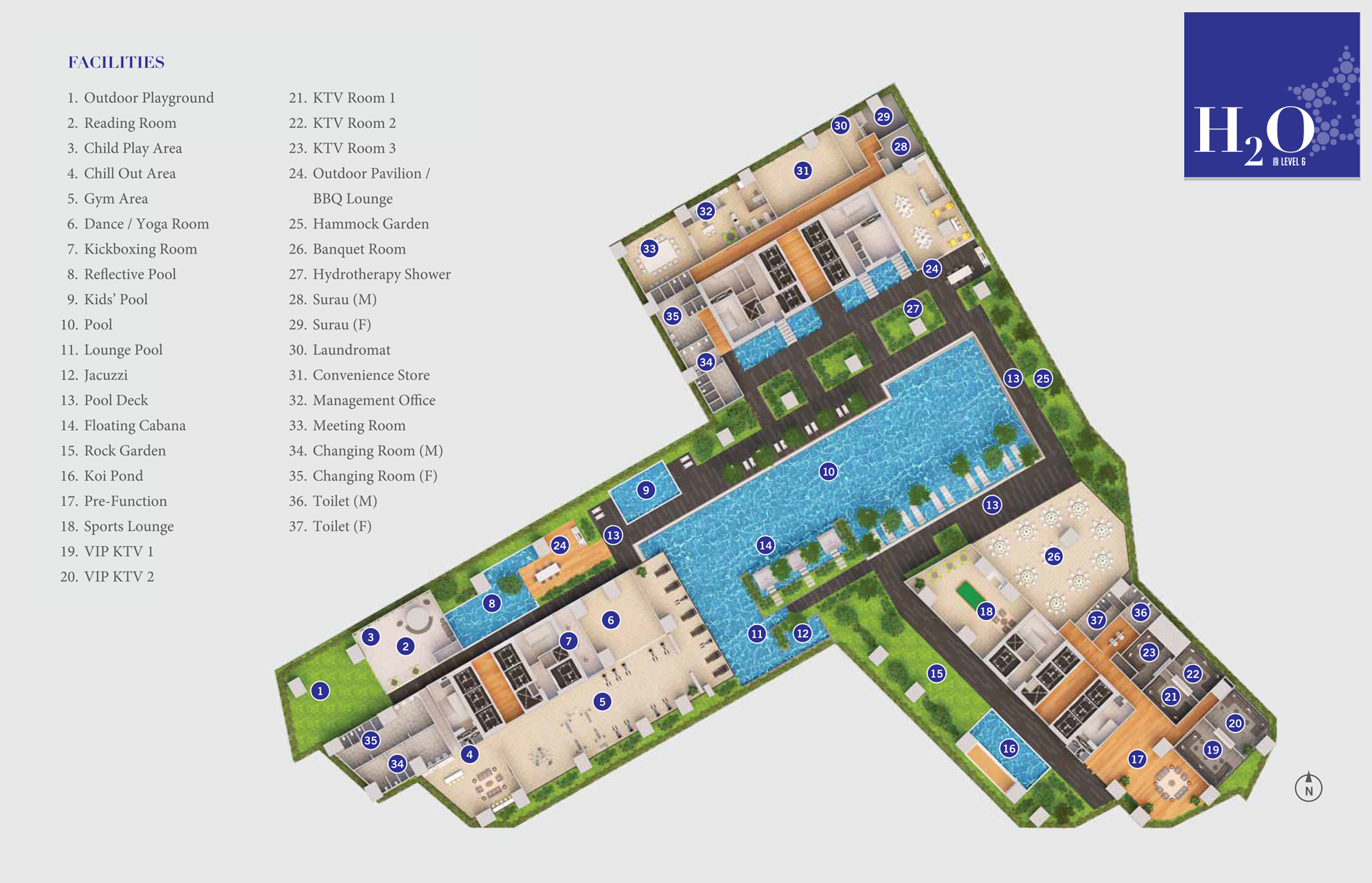 Site Plan of Star Residences
