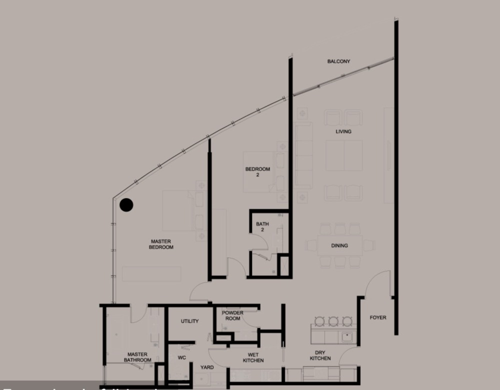 DC Residency Type B1 Floor Plan