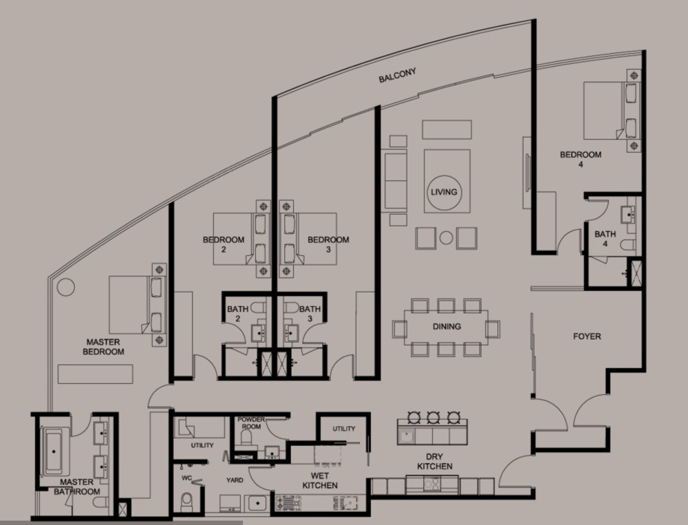 DC Residency Type PH5B Floor Plan