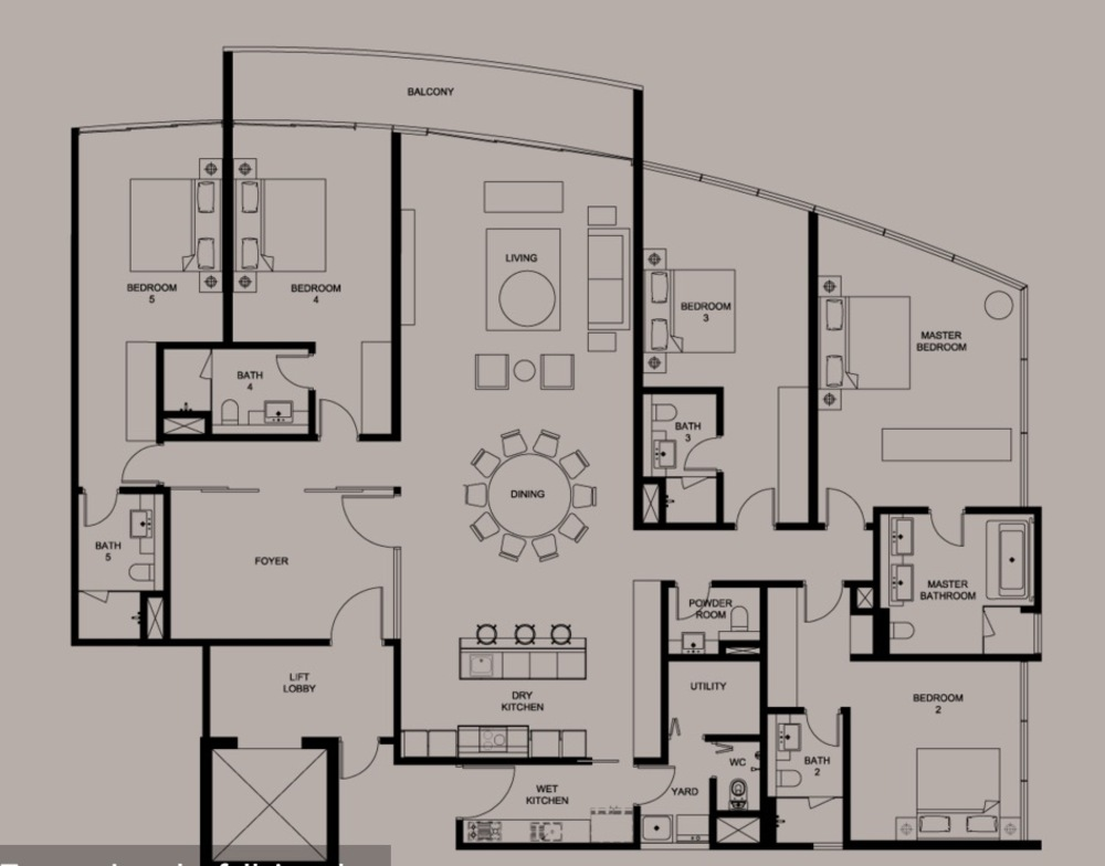 DC Residency Type PH6 Floor Plan