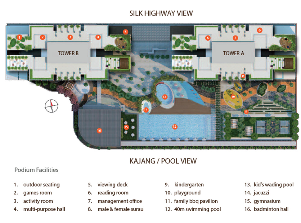 Site Plan of Amerin Mall & Residence