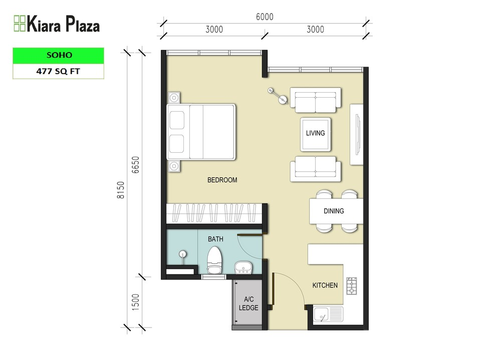 Kiara Plaza Type C Floor Plan