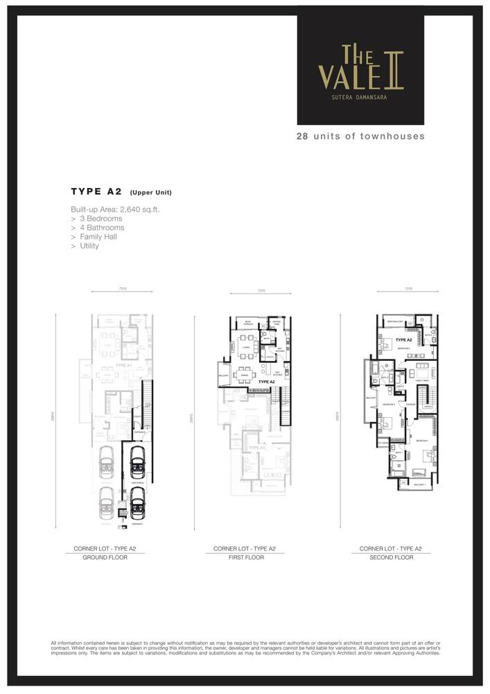 The Vale II @ Sutera Damansara Type A2 Floor Plan