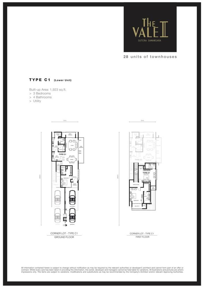 The Vale II @ Sutera Damansara Type C1 Floor Plan