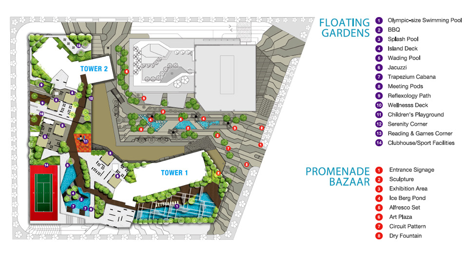 Site Plan of Third Avenue
