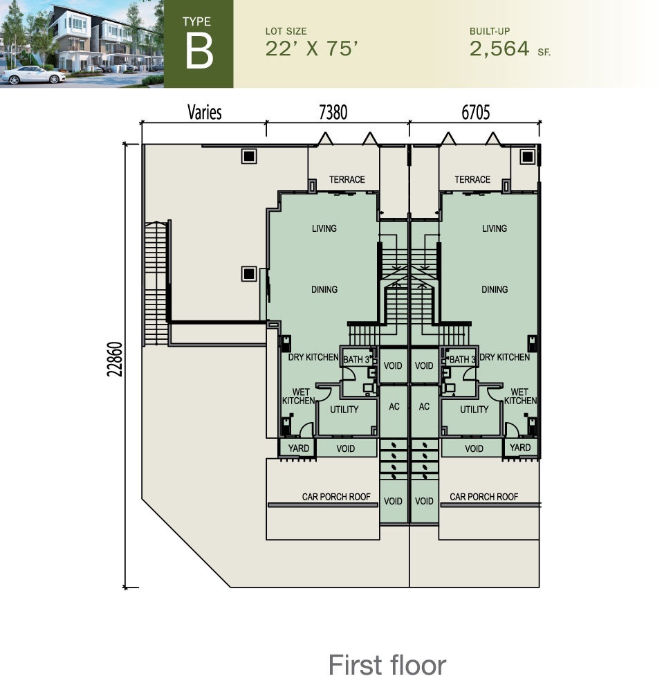 Tiara South Type B Floor Plan