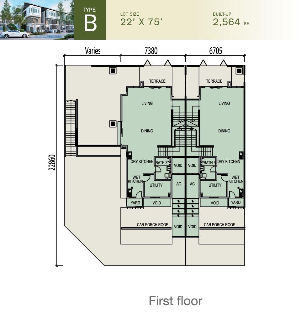 Ulasan untuk tiara south semenyih malay propsocial for Floor plans for 160 000