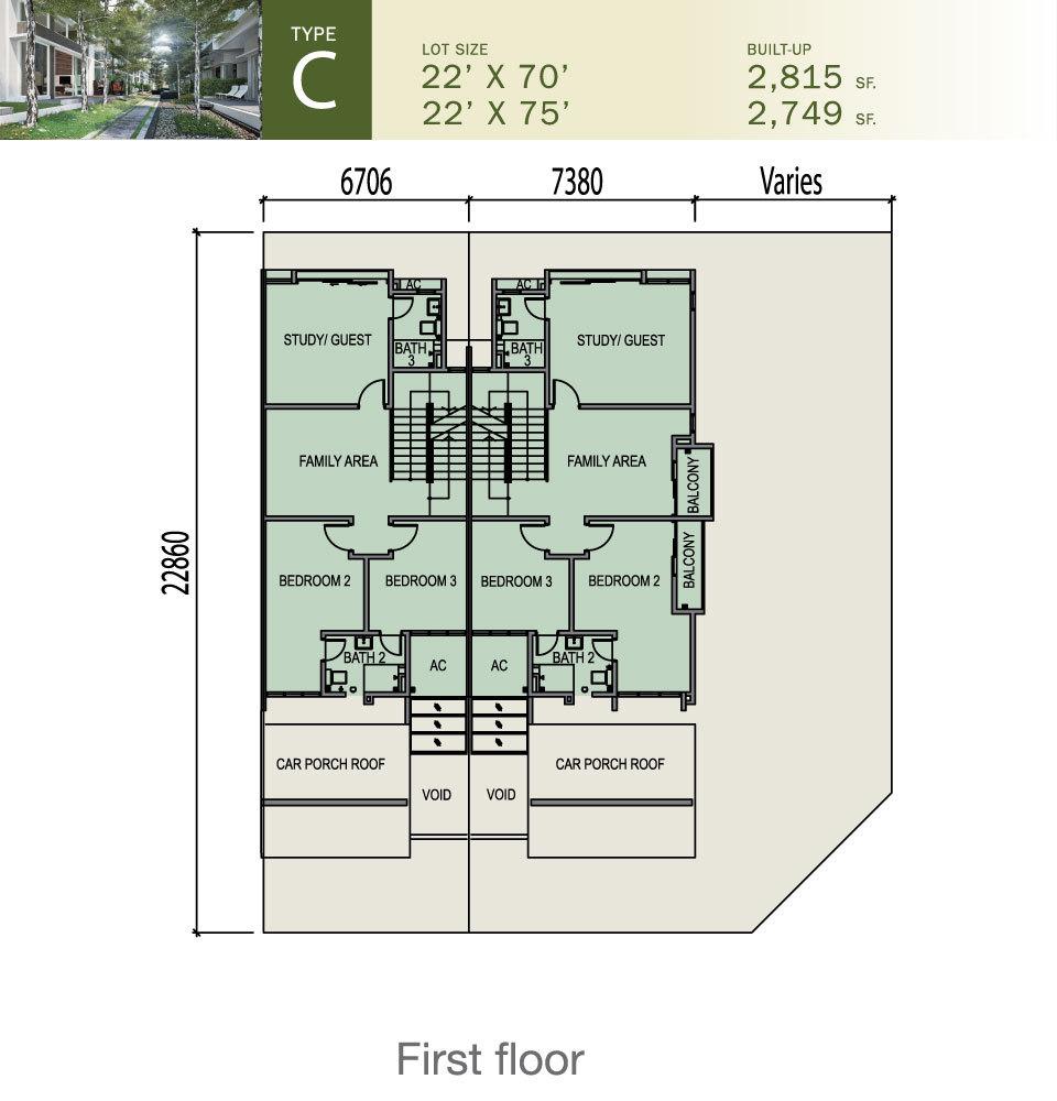 Tiara South Type C Floor Plan