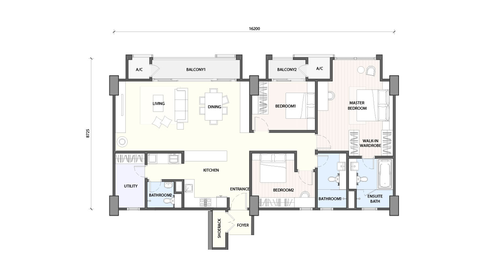 Radia Residences Type 5A1 Floor Plan