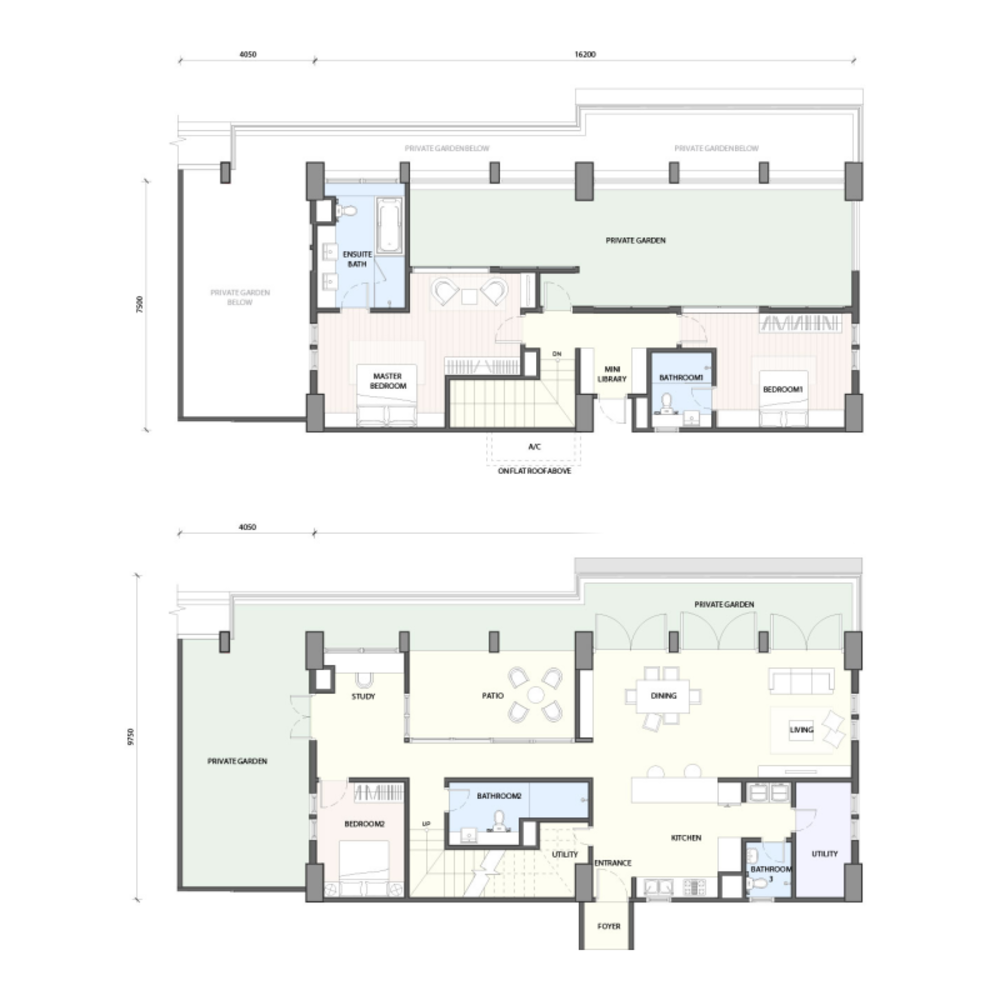 Radia Residences Type 6A2 (Duplex) Floor Plan