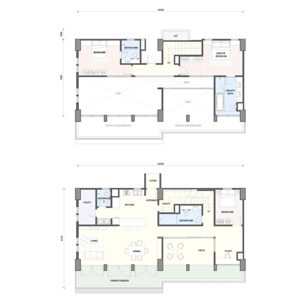 Radia Residences Type 6D2 (Duplex) Floor Plan