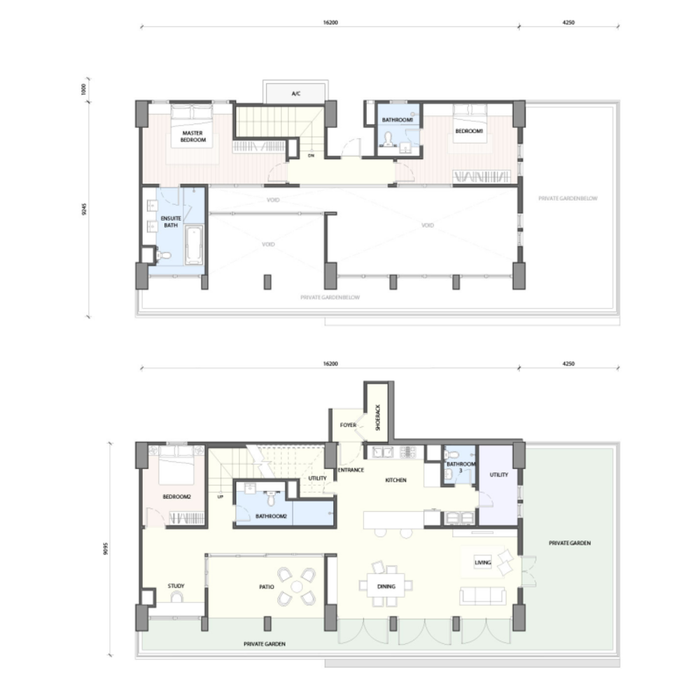 Radia Residences Type 6F1 (Duplex) Floor Plan