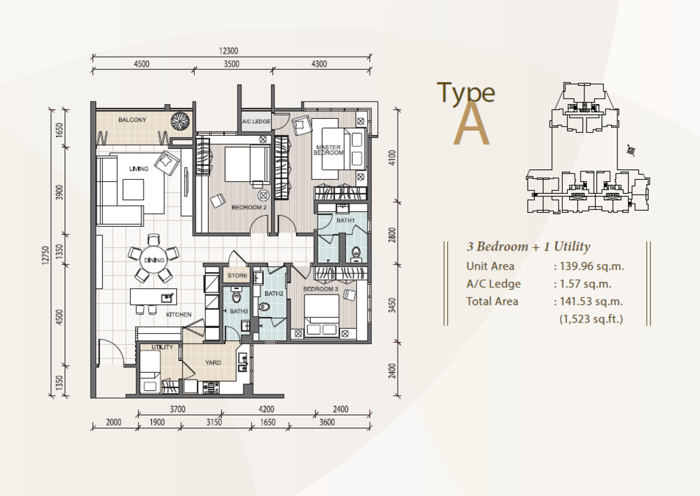 The Reach @ Titiwangsa Type A Floor Plan