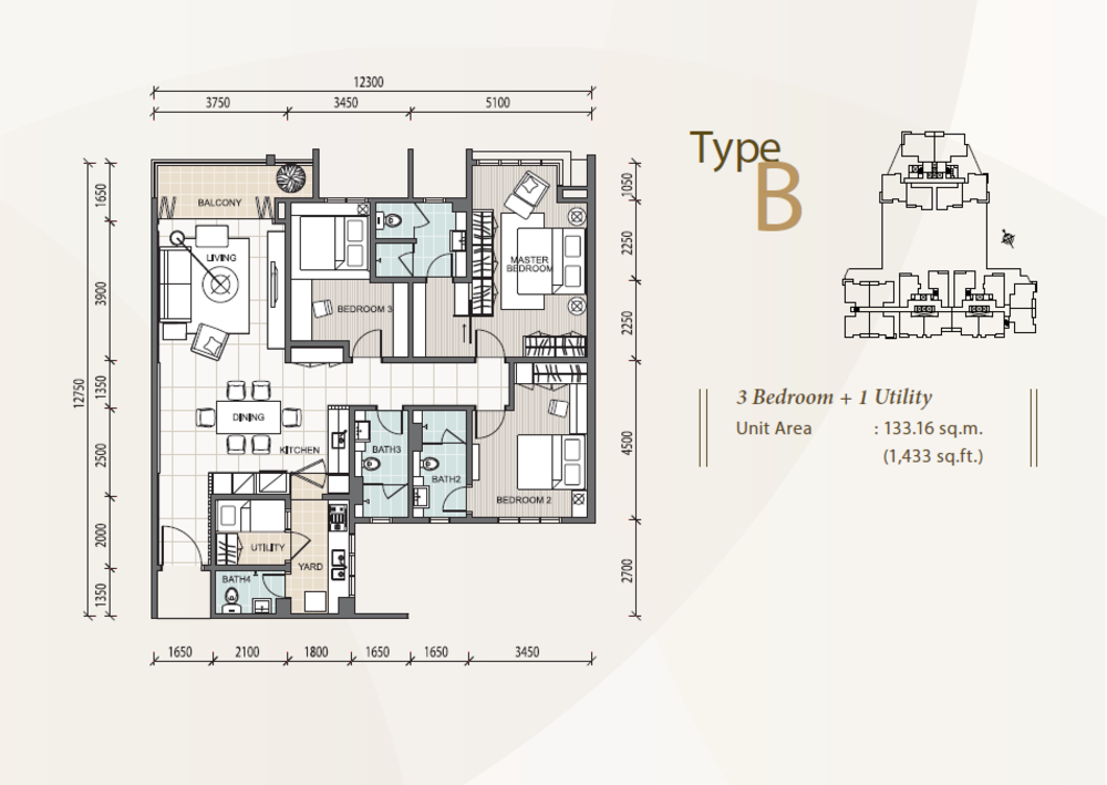 The Reach @ Titiwangsa Type B Floor Plan