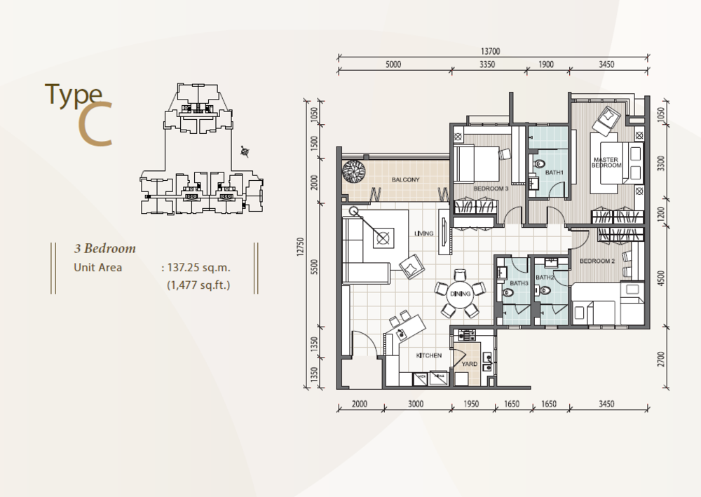 The Reach @ Titiwangsa Type C Floor Plan