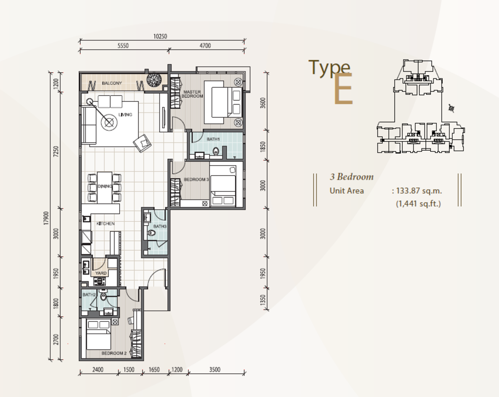 The Reach @ Titiwangsa Type E Floor Plan
