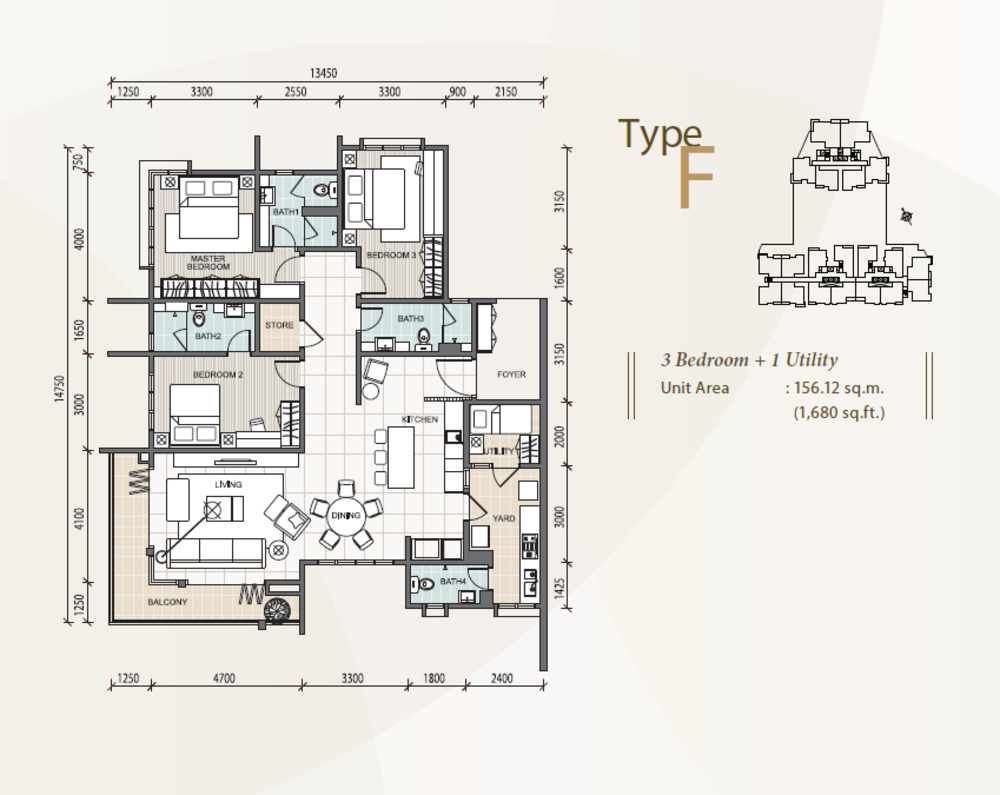 The Reach @ Titiwangsa Type F Floor Plan