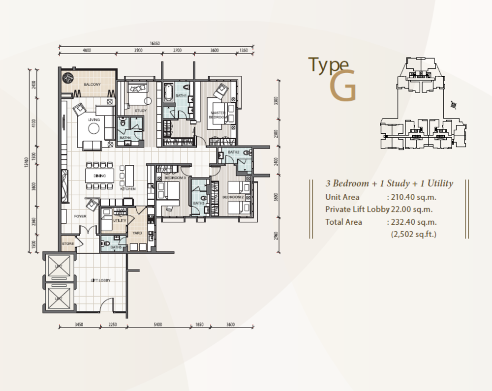 The Reach @ Titiwangsa Type G Floor Plan