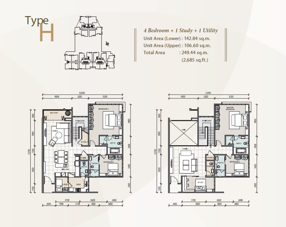 The Reach @ Titiwangsa Type H Floor Plan